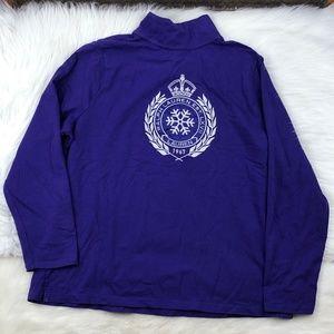 Ralph Lauren 1/4 Zip Pullover Embroidered Jacket